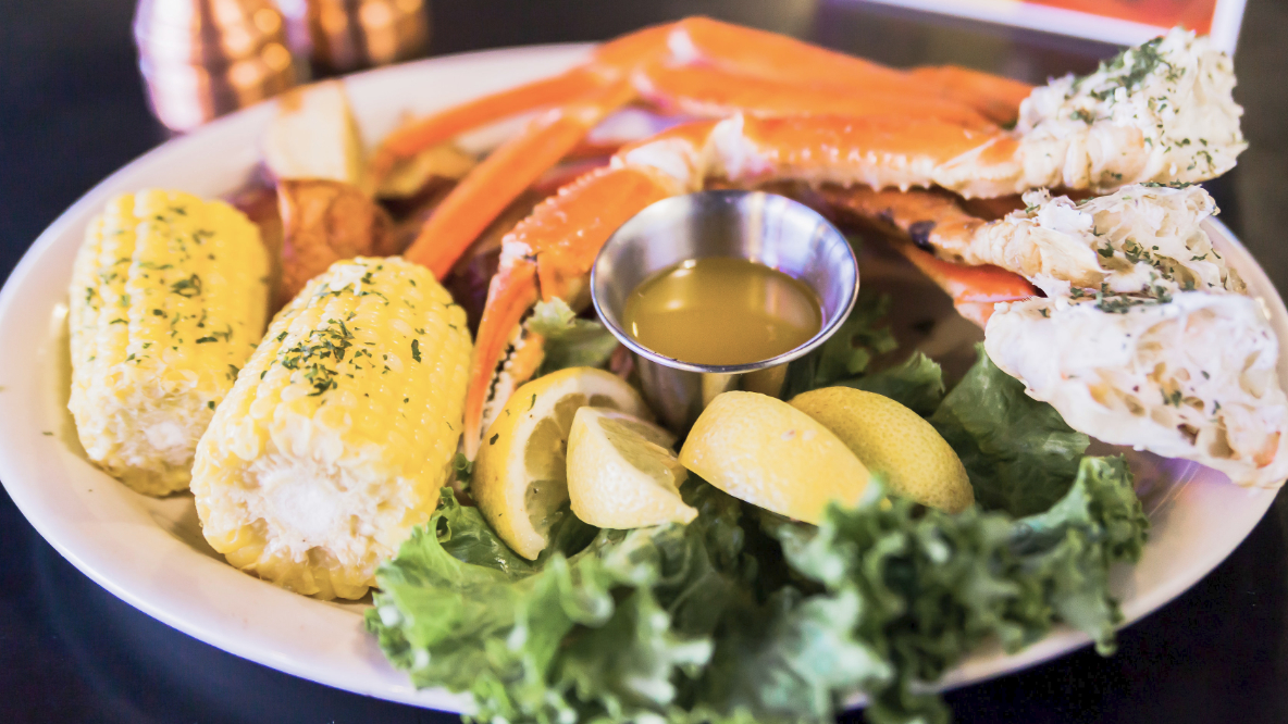 Snow Crab Legs at Bogey's Sports Pub on Wednesday Nights